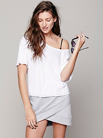 Tricot Overlap Mini Skirt