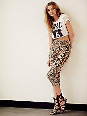 Twisted Leopard Harem Pant