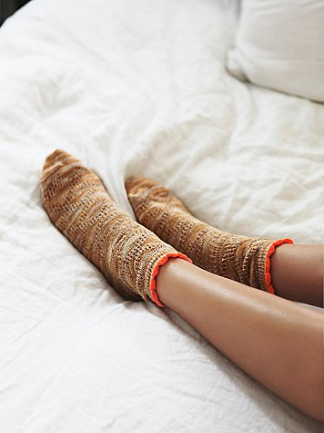 Tipping Pointelle Anklet