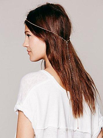 Beaded Gold Back Headband