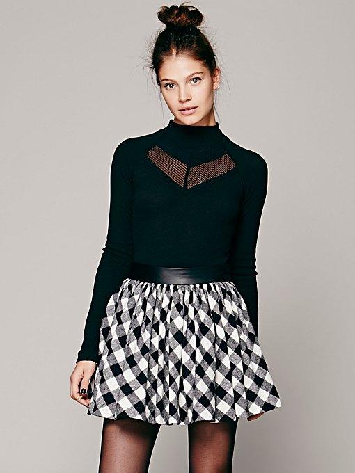 Buffalo Plaid Mini Skirt