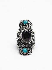 Filigree Statement Stone Ring