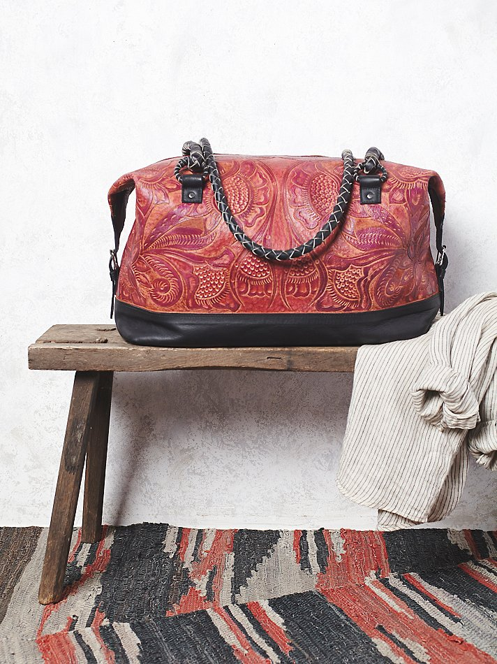 Gorgeous handmade leather weekender bag