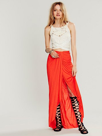 Solid Knit Column Skirt