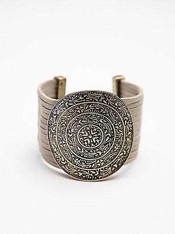 Embossed Disc Bracelet