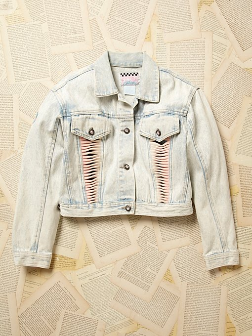 Vintage 1980s Cropped Denim Jacket