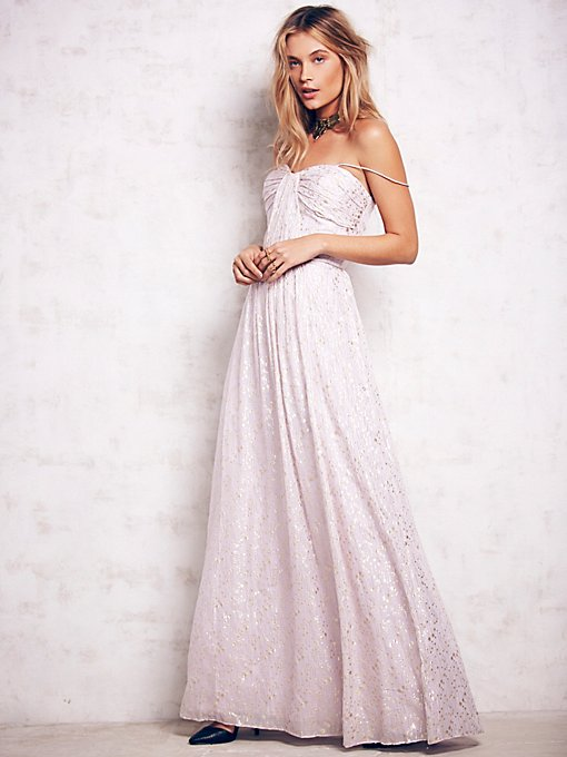 Monique Lurex Chiffon Gown