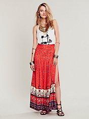 Desert Wanderer Split Maxi Skirt