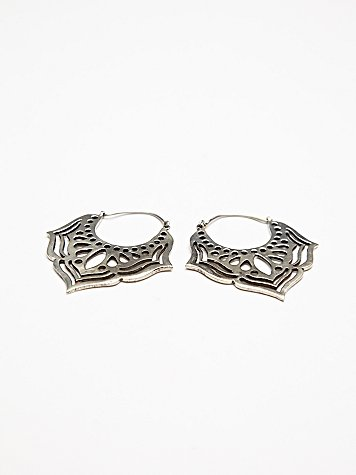 Tribal Lotus Earring