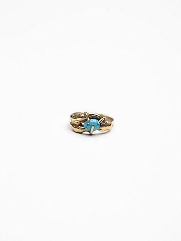 Single Stone Lava Ring