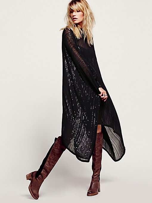 Sequin Sheer Maxi