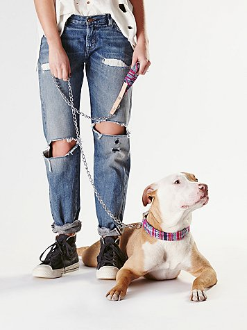 Tapestry Chain Leash