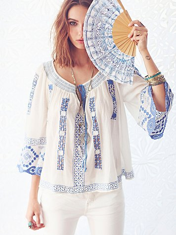 Silver Springs Embroidered Top
