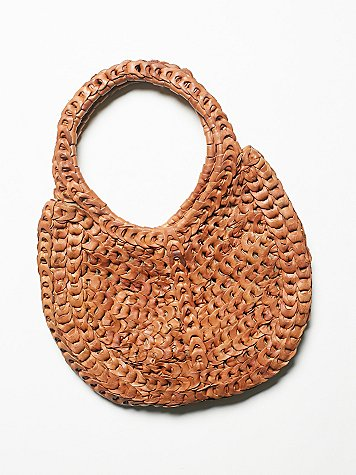Sunset Leather Hobo