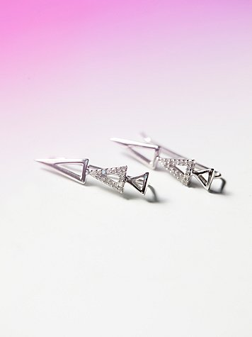 Pave Triangle Earring