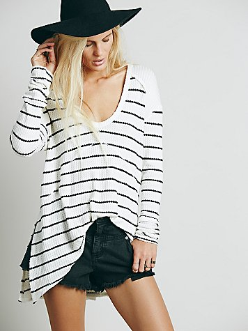 We The Free Striped Sunset Park Thermal at Free People Clothing Boutique