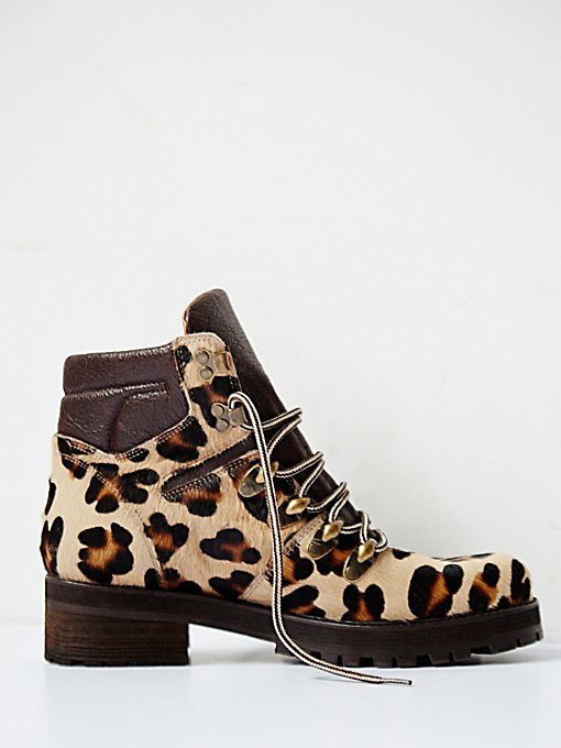 Leopard Icon Hiker Boot