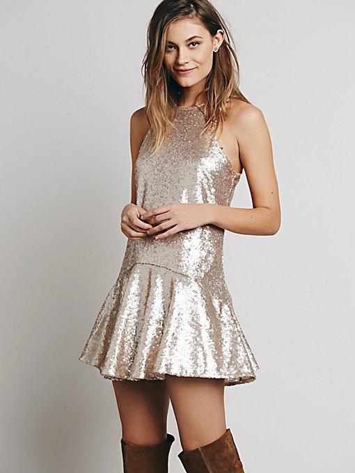 Liquid Shine Mini Dress