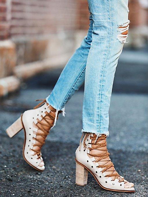 Pember Lace Up Heel