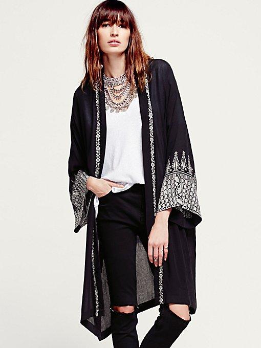 FP ONE Embroidered Long Sleeve Kimono