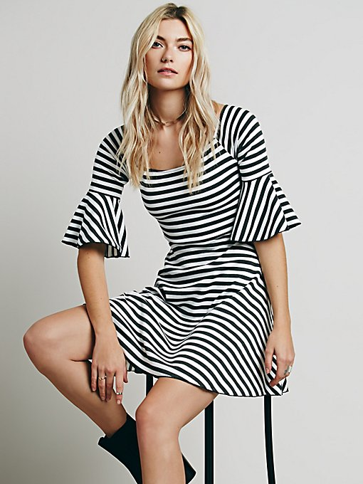 Striped Fit Flare and Flare