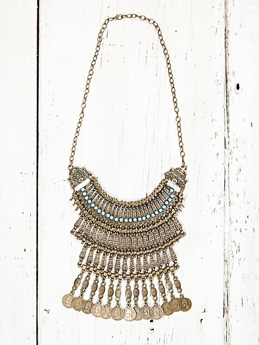 Vintage 1970s Coin Necklace