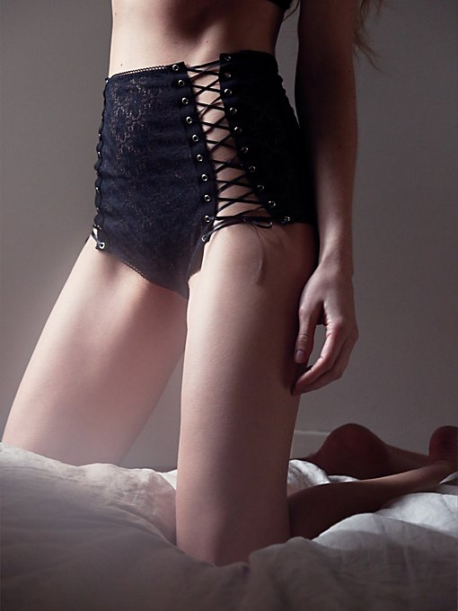 Wanted & Wild Lace Up Undie