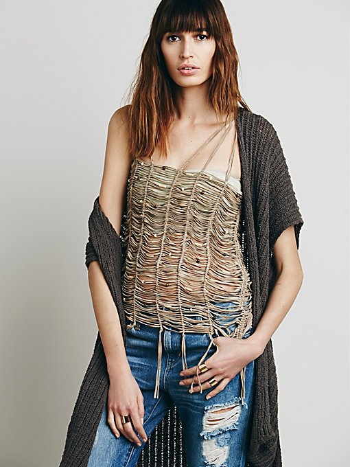 Leather Strappy Tank