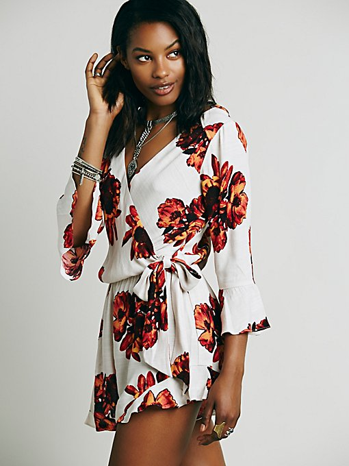 All The Right Ruffles Romper
