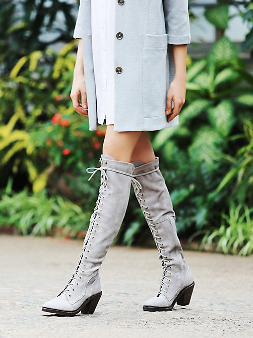 Jesse Lace Up Over The Knee Boot