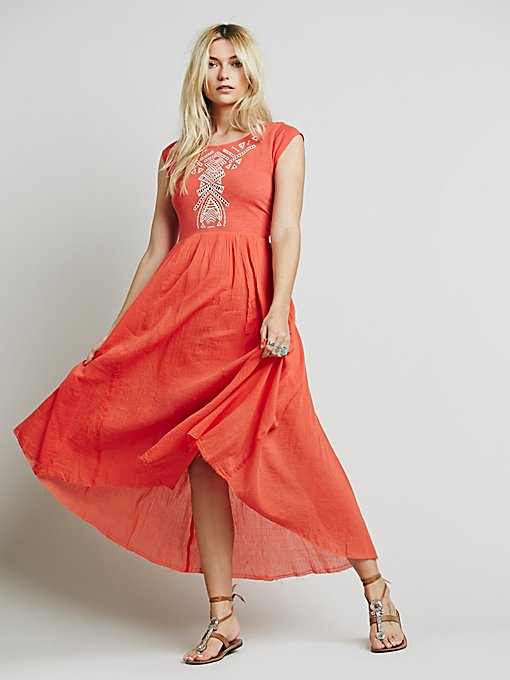Meadows Embroidered Maxi