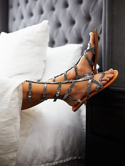 Vegan Noveau Mid Gladiator Sandals