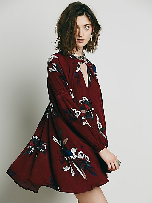 Electric Orchid Print Swing Tunic