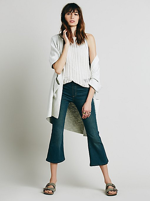 Pull On Cropped Flare