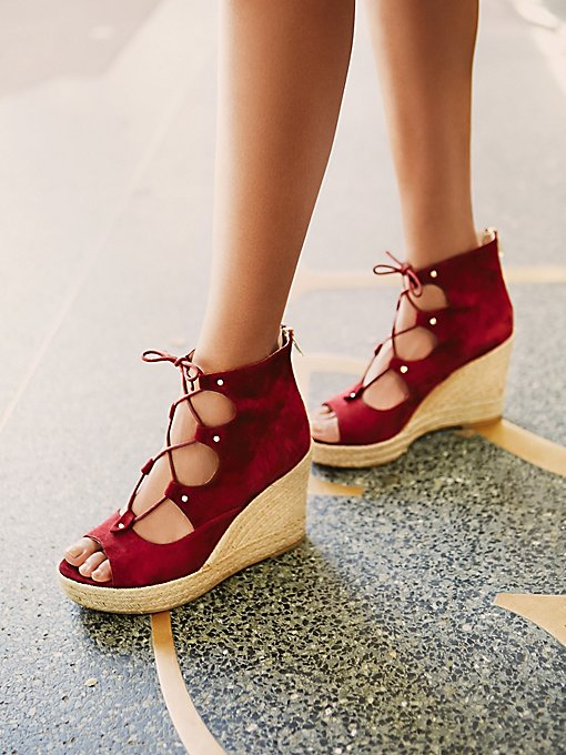 Prima Lace Up Wedge