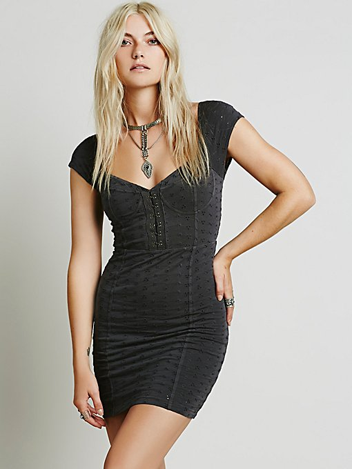 Eyelet Bodycon Dress
