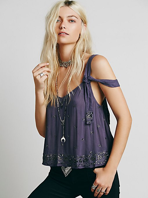 Sensual Embroidered Drippy Tank