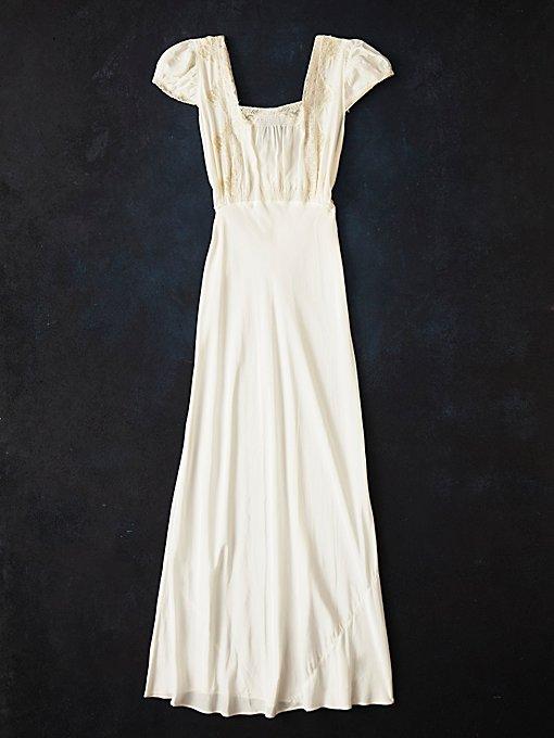Vintage 1930s Lace Slip Dress