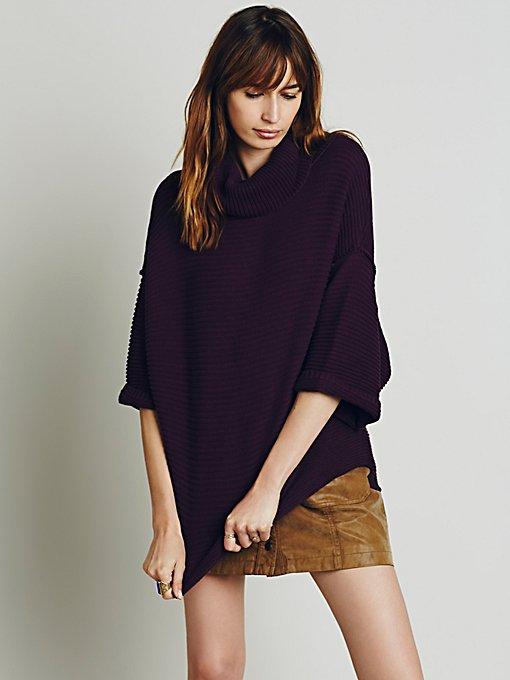 Boxy Turtleneck Pullover