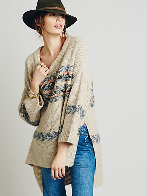 Alpaca Fairisle Tunic Sweater