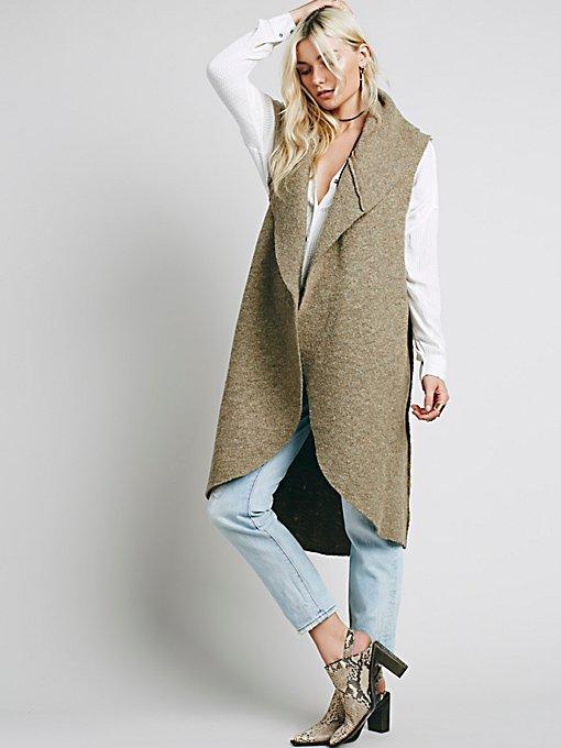 Drapey Wool Vest