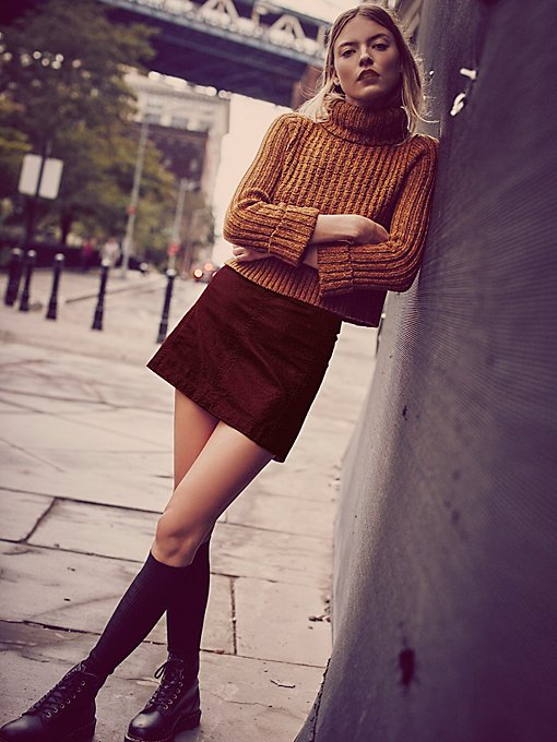 Zip To It Vegan Leather Mini Skirt