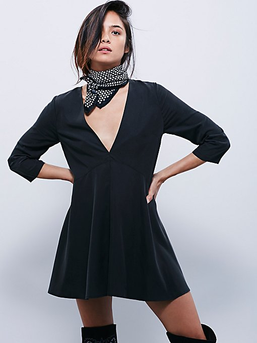 Deep V Solid Cupro Tunic