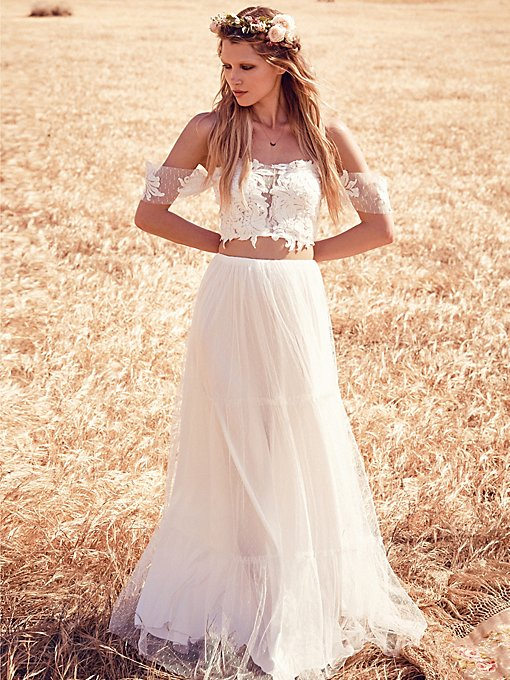 Fp ever after bohemian wedding dresses at free people for Ever after wedding dress