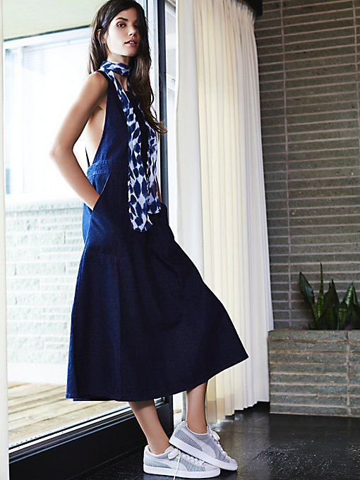 Denim Apron Dress