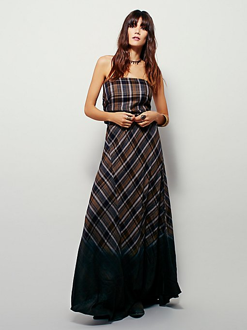Girlgang Plaid Maxi Skirt