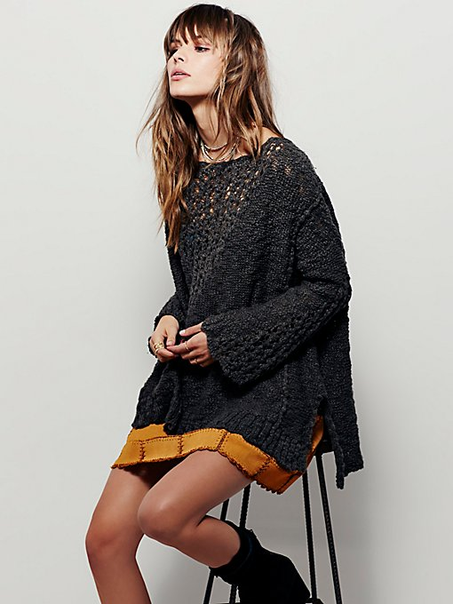 Pretty Pointelle Vee Sweater