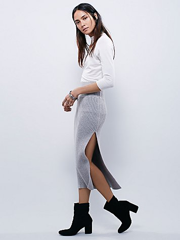 Felix Rib Maxi Skirt