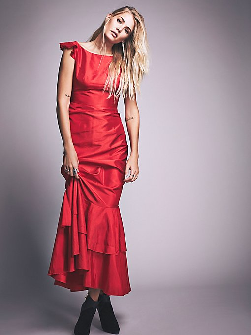 Goddess in Red Maxi