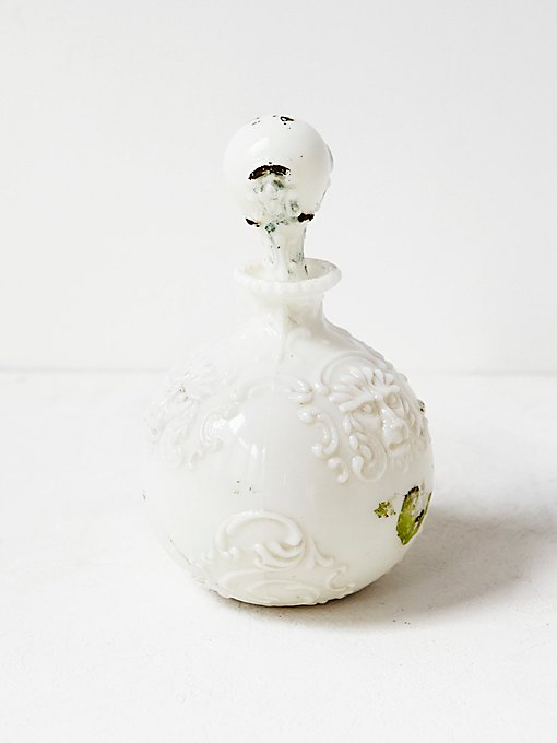 Vintage Victorian Milk Glass Vase